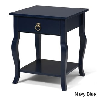 Lillian Collection Blue MDF, Wood 1-drawer Side Table