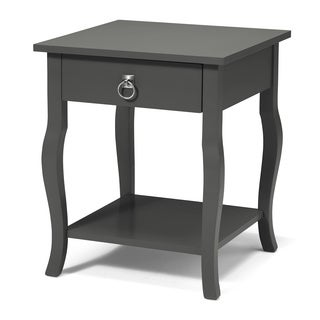 Clay Alder Home Bear Wood 1 Drawer Side Table Nightstand