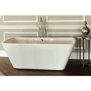 Signature Bath Reclaim White Acrylic 67.125-inch x 31-inch x 24.5-inch Freestanding Tub