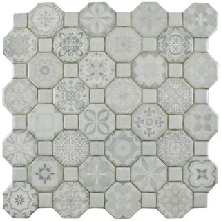 SomerTile 12.25x12.25-inch Tesseract White Ceramic Floor and Wall Tile (Case of 13)|https://ak1.ostkcdn.com/images/products/12064466/P18933527.jpg?impolicy=medium