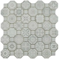 Shop SomerTile Faventia Nero WhiteGrey Ceramic Inch X Inch - 4x6 white ceramic tile