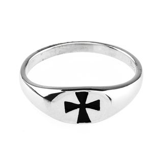Haven Park Sterling Silver Cut Out Cross Ring
