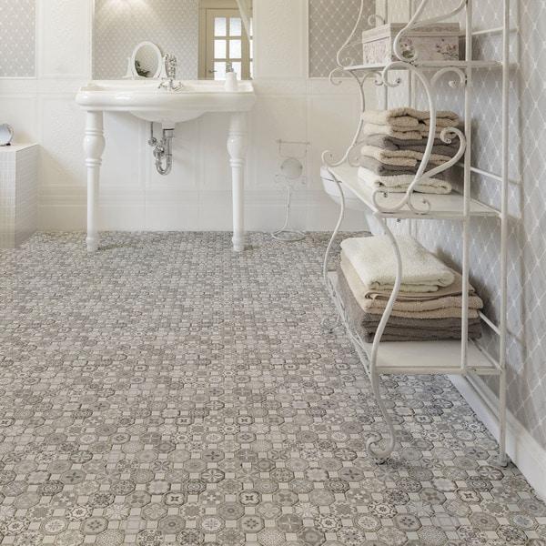 Somertile tesseract grey ceramic floor for 13 inch ceramic floor tile