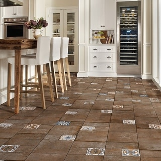 SomerTile 11x22.125-inch Roland Brown Porcelain Floor and Wall Tile (Case of 7)