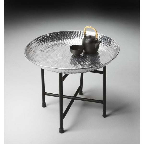 Butler Transitional Round Tray Table