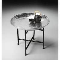 Handmade Butler Casbah Metal Tray Table (India)
