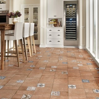 SomerTile 11x22.125-inch Roland Beige Porcelain Floor and Wall Tile (Case of 7)