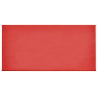 SomerTile 3x6-inch Malda Subway Glossy Apple Red Ceramic Wall Tile (Case of 136)