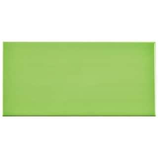 SomerTile 3x6-inch Malda Subway Glossy Kiwi Green Ceramic Wall Tile (Case of 136)
