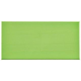 SomerTile 3x6-inch Malda Subway Glossy Kiwi Green Ceramic Wall Tile (136 tiles/17 sqft.)