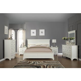 Laveno 012 White Wood Bedroom Furniture Set, Includes Queen Bed, Dresser, Mirror, 2 Night Stands, and Chest|https://ak1.ostkcdn.com/images/products/12064510/P18933551.jpg?impolicy=medium