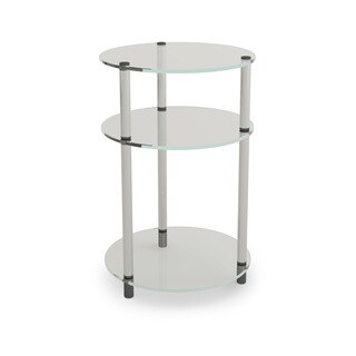Porch & Den Bywater Chartres Glass 3-tier Round Table (2 options available)