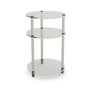 Porch & Den Bywater Chartres Glass 3-tier Round Table