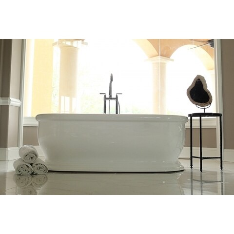 Signature Bath White Acrylic Freestanding Bathtub
