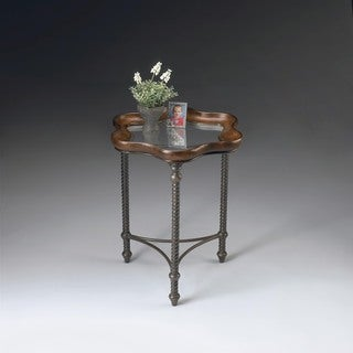 Butler Pamela Glass And Metal Accent Table