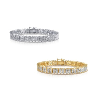 Link to Divina Goldplated or Silverplated Diamond Accent Tennis Bracelet - n/a Similar Items in Bracelets