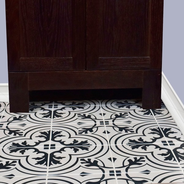 Somertile 7 75x7 75 Inch Thirties Vintage Ceramic Floor