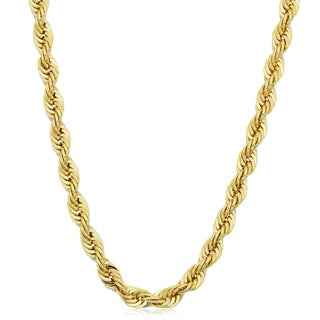 Link to Men's 14k Yellow Gold Filled 4.2mm Rope Chain Necklace (16-36 inches) Similar Items in Necklaces
