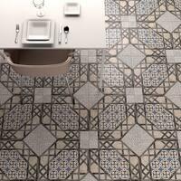 SomerTile 17.625x17.625-inch Oliva Gris Ceramic Floor and Wall Tile (5 tiles/11.1 sqft.)