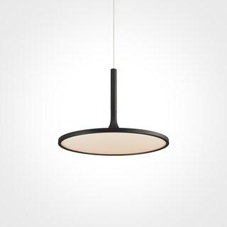 Vonn Lighting Salm Black Aluminum/Iron 17-inch LED Height Adjustable Fixture Modern Disc Chandelier