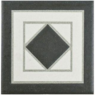 SomerTile 4.25x4.25-inch Narcissus Blanco Porcelain Corner Trim Tile
