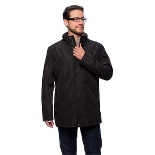 Cole Haan Men's 32-inch Stand Collar Faux Fur Vest Zip-front Jacket (As Is Item)