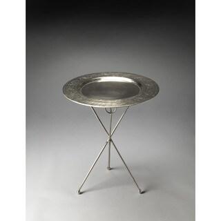 Handmade Butler Dahlia Folding Metal End Table (India)
