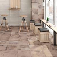 SomerTile 11.875x11.875-inch Ventila Beige Porcelain Floor and Wall Tile (12 tiles/12.26 sqft.)