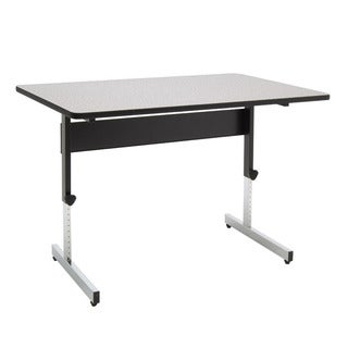 Offex Black/Spatter Grey Height-adjustable All-purpose 48-inch Adapta Desk