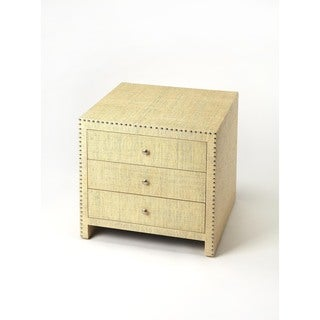 Butler Danilo Cream Raffia Accent Chest