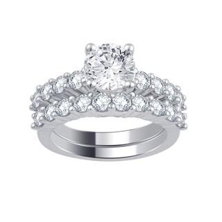 Divina 14k White Gold 3ct TDW Diamond Bridal Set