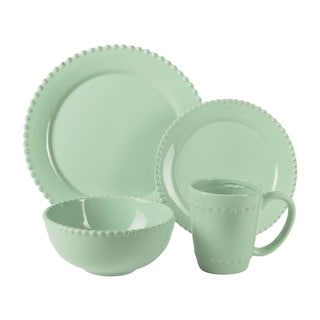 Bianca Bead Jade Earthenware 16-piece Dinnerware Set