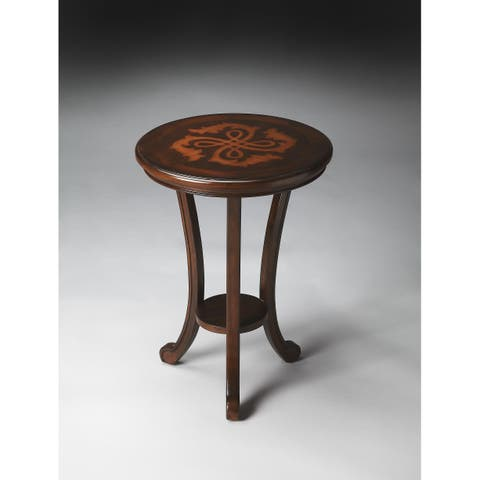 Butler Yates Handcrafted Solid Wood Plantation Cherry Accent Table