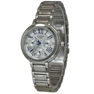Casio Women's SHE3034D-7A Sheen Silver Watch