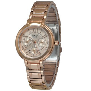 Casio Women's SHE3034PG-9A Sheen Gold Watch