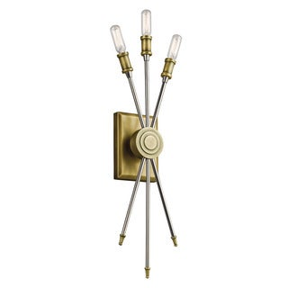 Kichler Lighting Doncaster Collection 3-light Natural Brass Wall Sconce