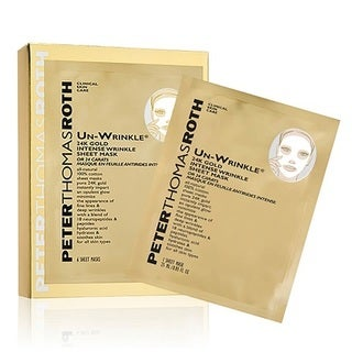 Peter Thomas Roth Un-Wrinkle 24k Gold Intense Wrinkle Sheet Mask (Pack of 6)