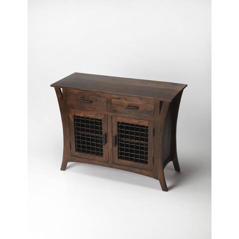 Butler Transitional Modern Expressions Wooden Rectangular Console Chest - Dark Brown