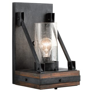 Kichler Lighting Colerne Collection 1-light Auburn Stained Wall Sconce