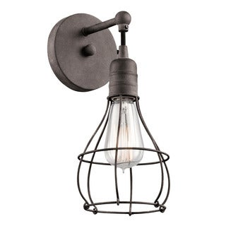 Kichler Lighting Industrial Cage Collection 1-light Weathered Zinc Wall Sconce
