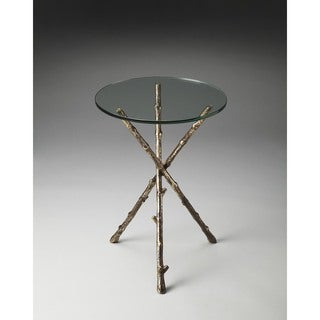 Butler Alpine Glass And Metal Accent Table