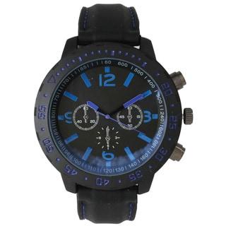 Olivia Pratt Men's Black Stainless-steel 3-dial Sport Watch