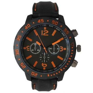Olivia Pratt Men's Black Stainless-steel 3-dial Sport Watch (Option: Orange)