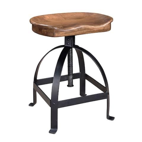 "Somette Manna Brown Adjustable Saddle Stool - 14""L x 17.5""W x 30""H"