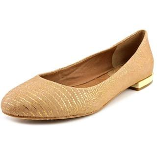 Vince Camuto Women's Behar Gold Leather Dress Shoes