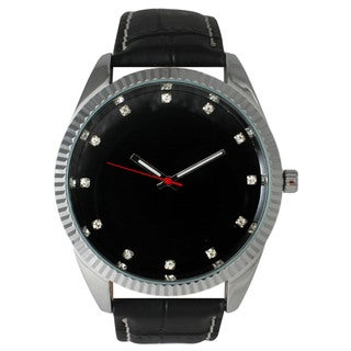 Olivia Pratt Men's Leather Strap Watch