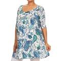 MOA Collection Women's Plus Size Multicolor Ornate Dress