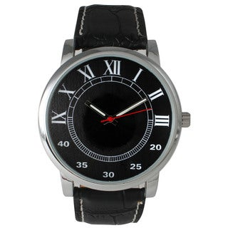 Olivia Pratt Men's Classic Leather Strap Watch