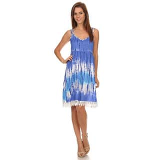 MOA Collection Women's Polyester and Spandex Tie Dye Sleeveless Short Dress|https://ak1.ostkcdn.com/images/products/12064881/P18933847.jpg?impolicy=medium