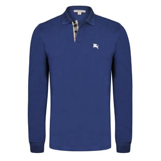 Men's Burberry Long Sleeve Polo Shirt